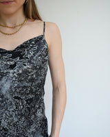 Devore Velvet Marbled Slip Dress