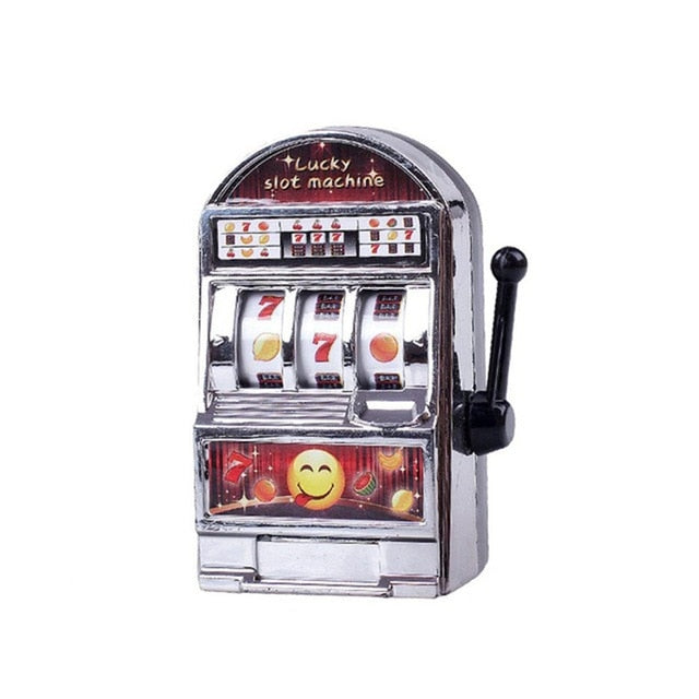 Lucky Jackpot Mini Slot Machine Antistress Toys Games for Children Kids Safe Machine Bank Replica Funny Gag Toys Christmas Gifts