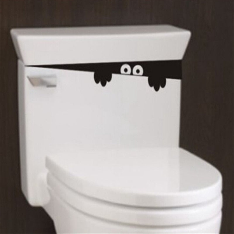 1PC HOT DIY Funny Peep Monster Toilet Bathroom Vinyl Wall Sticker Decal Art Removable Home Decoration