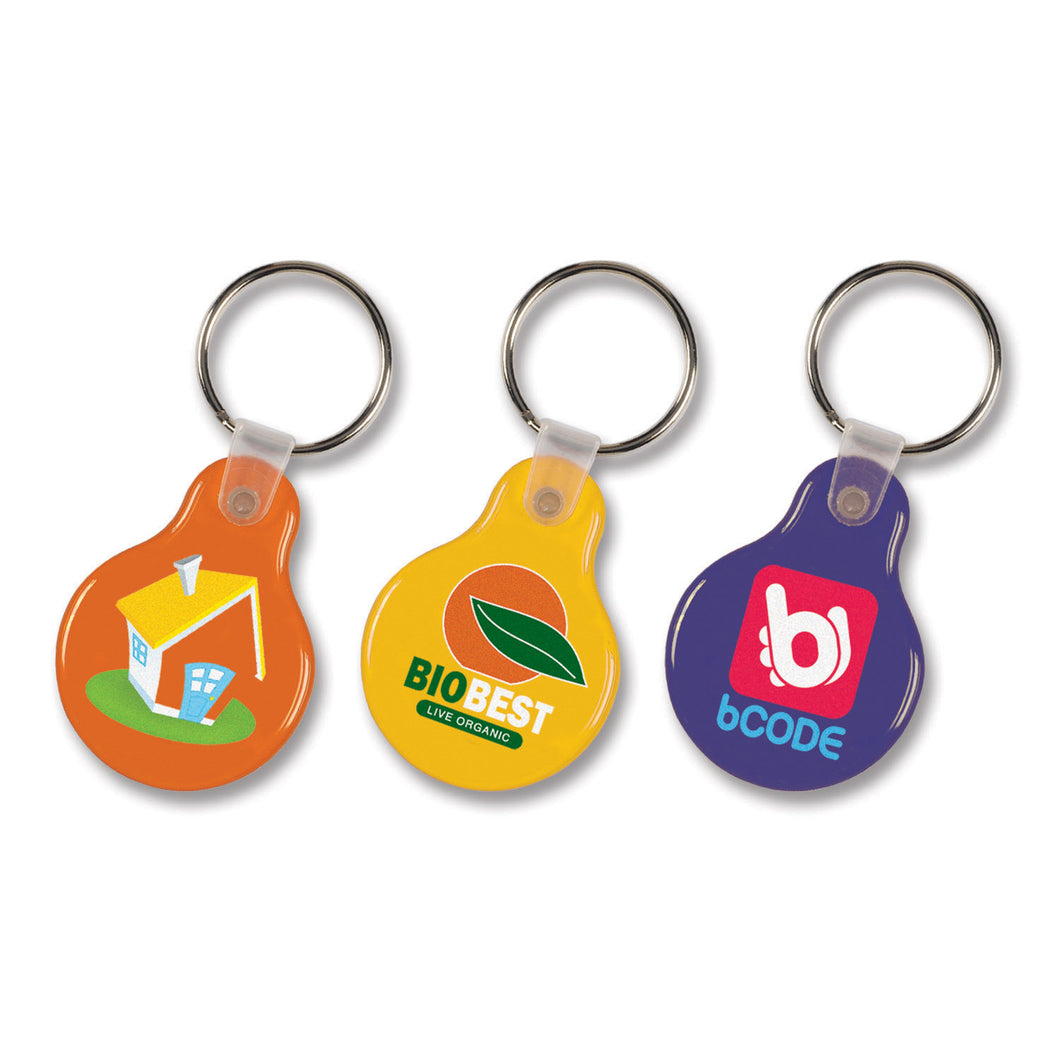 Round Flexi Resin Key Ring