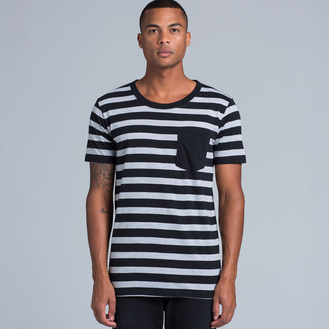 Tone Stripe Pocket Tee