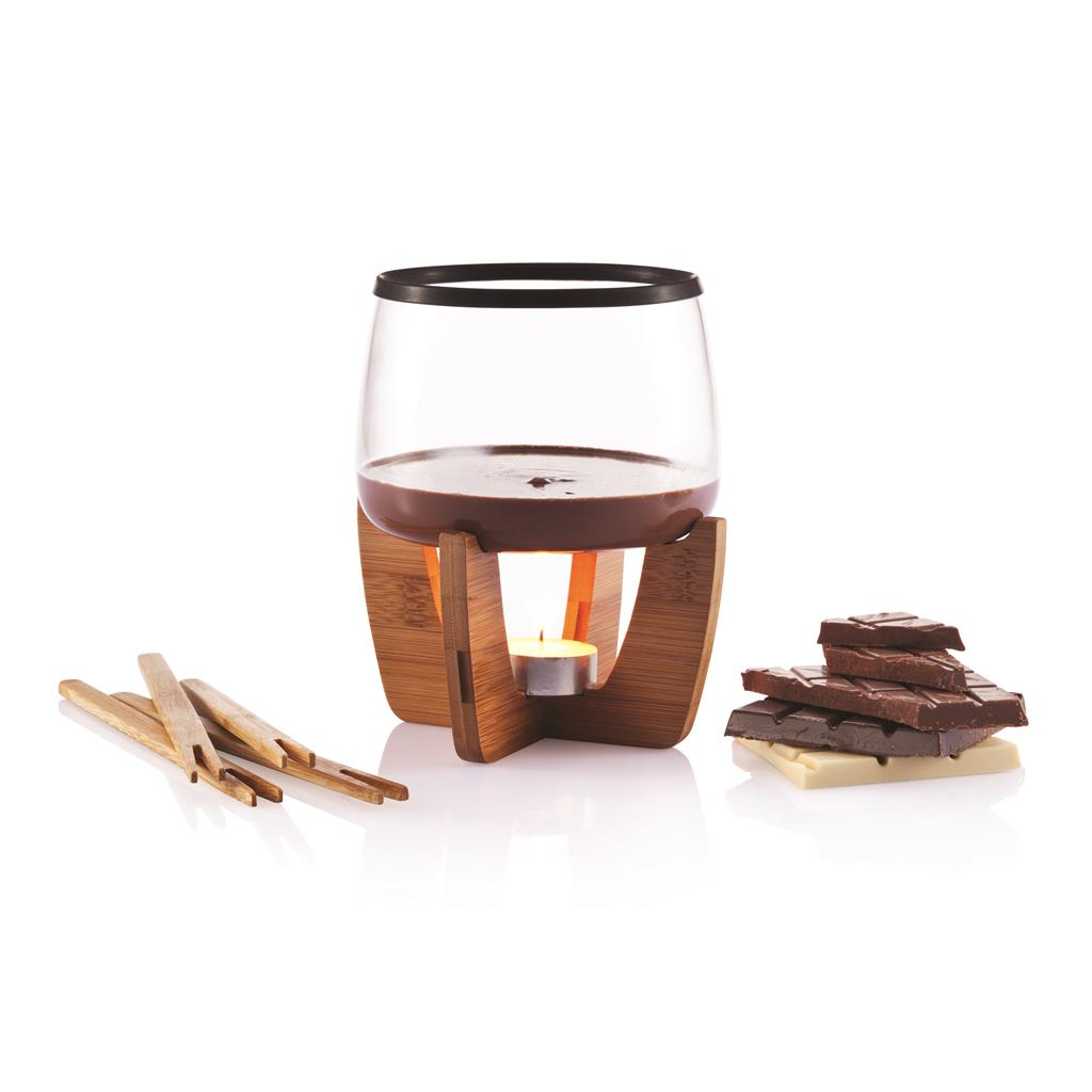 Glu mulled wine set with glasses, black/brown