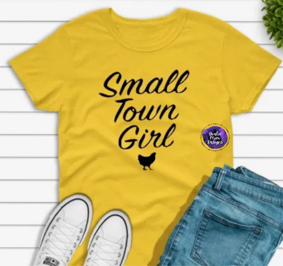 Small Town Girl -Black Writing