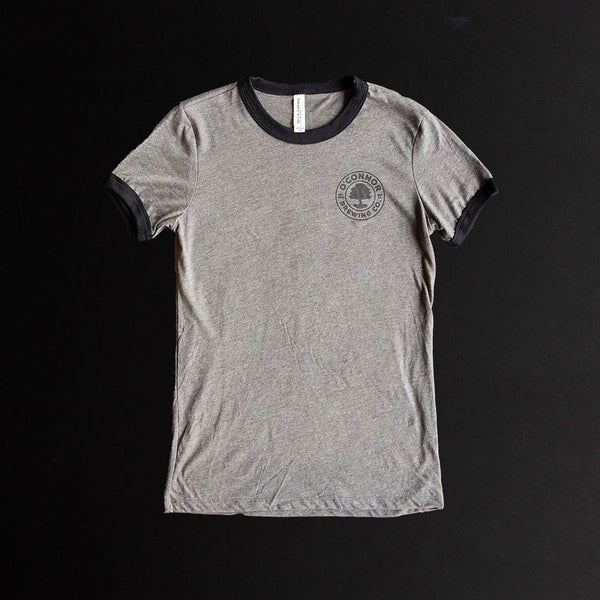 Ladies - Grey Ringer Tee