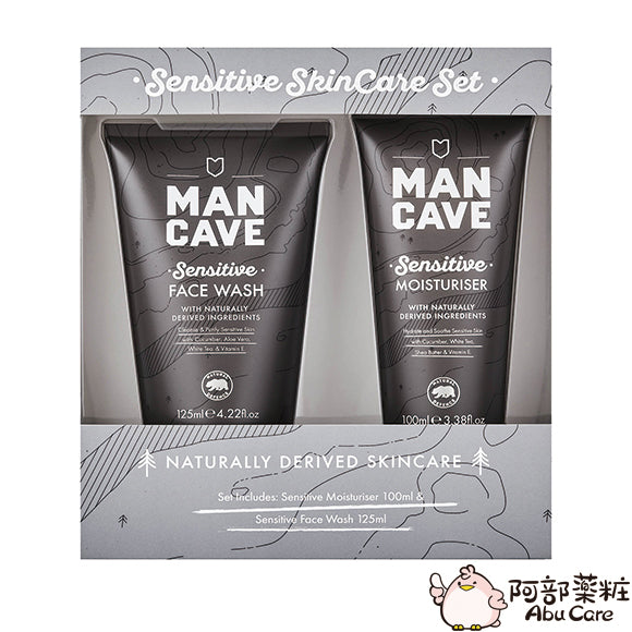 MANCAVE SENSITIVE/WILLOWBARK SKINCARE SET 男士天然洗面啫喱+面霜 套裝