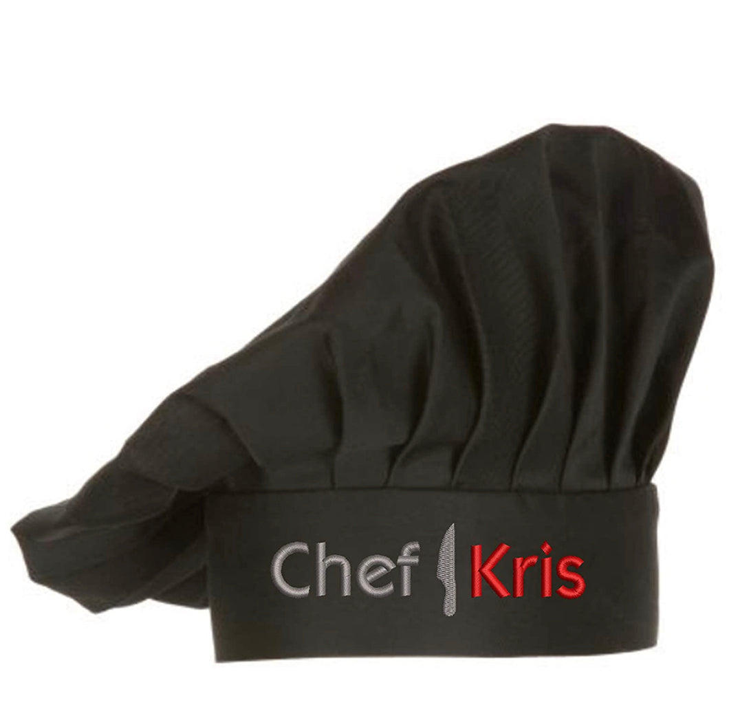 Embroidered Chef Hat with Custom Name a Great Gift Adult Premium Quality