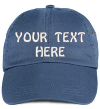 Load image into Gallery viewer, Soft Baseball Cap Custom Personalized Text Cotton Dad Hats for Men & Women. Embroidered Your Text