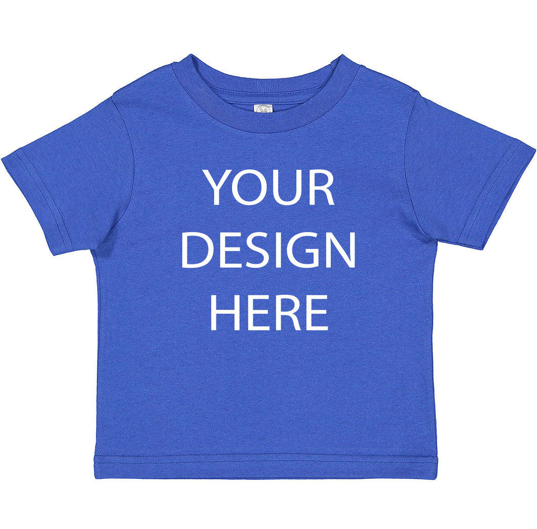 Toddler Fine Jersey Tee, Kids Custom Shirt, Custom Toddler Shirt, Custom Toddler Tee