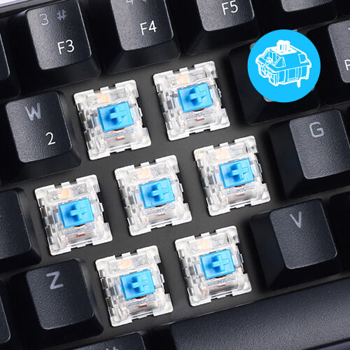 rk61 60 keyboard blue switches