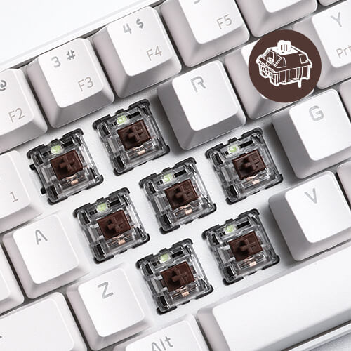 rk61 keyboard brown switches