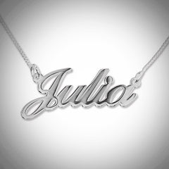 Name Necklace - Smaller Version - Carrie Font - Thicker Metal - .925 Sterling Silver