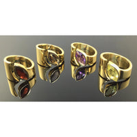Sage Inspirations Artisan Jewelry Exclusive: Modernist Wrap Around Gemstone Ring - $249