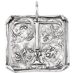 Vintage Style Sterling Silver Pendant - Your Choice of Letter
