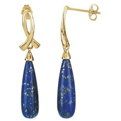 14kt Gold Lapis Briolette Earrings