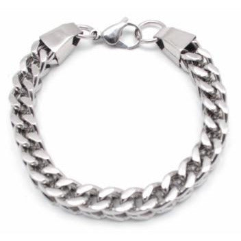 Cube Link Stainless Steel Chain Bracelet