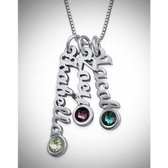 Tiny Vertical Name Necklace - 6 Names
