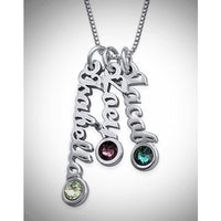 Tiny Vertical Name Necklace - 2 Names