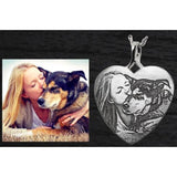 Personalized 3D Photo Heart Chamber Pendant/Necklace - Plain Back - .925 Sterling Silver