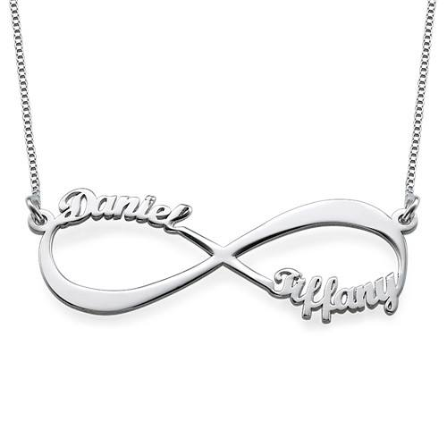 Personalized 2-Name .925 Sterling Silver Infinity Necklace