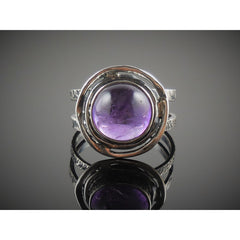 Amethyst Sterling Silver Ring - Size 8.5