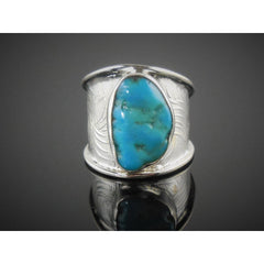 Turquoise Sterling Silver Ring – Size 8.0