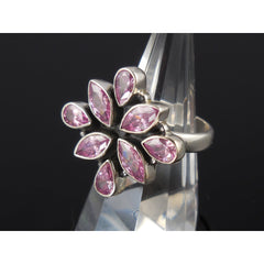 Pink Kunzite Sterling Silver Ring - Size 8