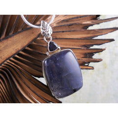 Sunstone in Iolite & Iolite Sterling Silver Pendant/Necklace