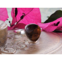 Fire Agate Sterling Silver Ring – Size 10.00