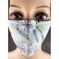 Handsewn Face Mask with Filter Pocket & Bendable Nose Wire - Tres Chic European Traveler-Rome Venice Paris - 5 Sizes