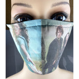 Handsewn Face Mask with Filter Pocket, Bendable Nose Wire, & Adjustable Elastic - Outlander Inspired - 5 Sizes