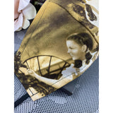 Handsewn Face Cover with Filter Pocket & Bendable Nose Wire - Vintage Fabric Dorothy and Toto - Wizard of Oz - 5 Sizes