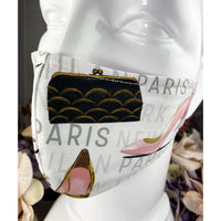 Handsewn Face Cover with Filter Pocket and Bendable Nose Wire - Paris & Fashion - 5 Sizes