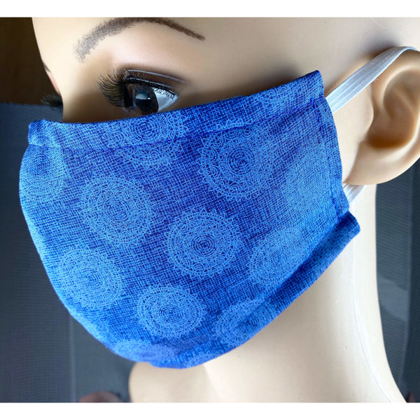 Handsewn Face Cover with Filter Pocket & Bendable Nose Wire - Deco Nature - 5 Sizes