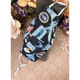 Handsewn Face Mask with Filter Pocket and Bendable Nose Wire - U.S. Air Force Themed Fabric - 5 Sizes