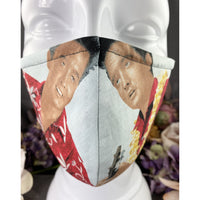 Handsewn Face Mask with Filter Pocket and Bendable Nose Wire - King of Rock N'Roll in Hawaii - 5 Sizes