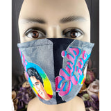 Handsewn Face Cover with Filter Pocket and Bendable Nose Wire - King of Rock n' Roll - 4 Sizes