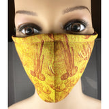 Handsewn Face Mask with Filter Pocket & Bendable Nose Wire - Golden Desert - 5 Sizes