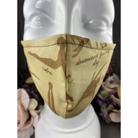 Handsewn Face Mask with Filter Pocket and Bendable Nose Wire - Yoga Poses - 5 Sizes