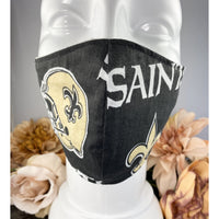 Handsewn Face Mask with Filter Pocket and Bendable Nose Wire - New Oreleans Football Team - 5 Sizes