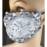 Handsewn Face Mask with Filter Pocket, Bendable Nose Wire, and Adjustable Elastic - Topaz - 5 Sizes