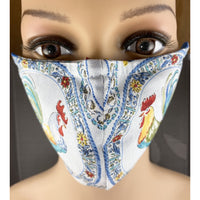 Handsewn Face Mask with Filter Pocket, Bendable Nose Wire, & Adjustable Elastic - Rooster - 5 Sizes