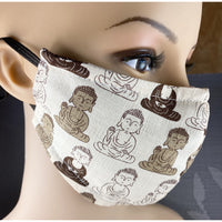Handsewn Face Mask with Filter Pocket, Bendable Nose Wire, & Adjustable Elastic - Buddha Brown - 5 Sizes