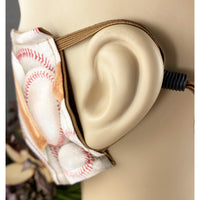 Handsewn Face Mask with Filter Pocket, Bendable Nose Wire, Adjustable Elastic, & Pre-Washed - Baseball - 5 Sizes