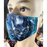 Handsewn Face Mask with Filter Pocket & Bendable Nose Wire - Black Panther - 5 Sizes