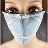 Handsewn Face Mask with Filter Pocket and Bendable Nose Wire - Light Turquoise - 5 Sizes