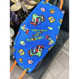Handsewn Face Cover with Filter Pocket and Bendable Nose Wire - Super Mario World  - 5 Sizes