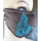 Handsewn and Machine-Embroidered Face Mask with Filter Pocket, Bendable Nose Wire, & Adjustable - Artisan Horse - 5 Sizes