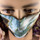 Handsewn Face Mask with Filter Pocket, Bendable Nose Wire, Adjustable Elastic, & Pre-Washed - Flying Eagles - 5 Sizes