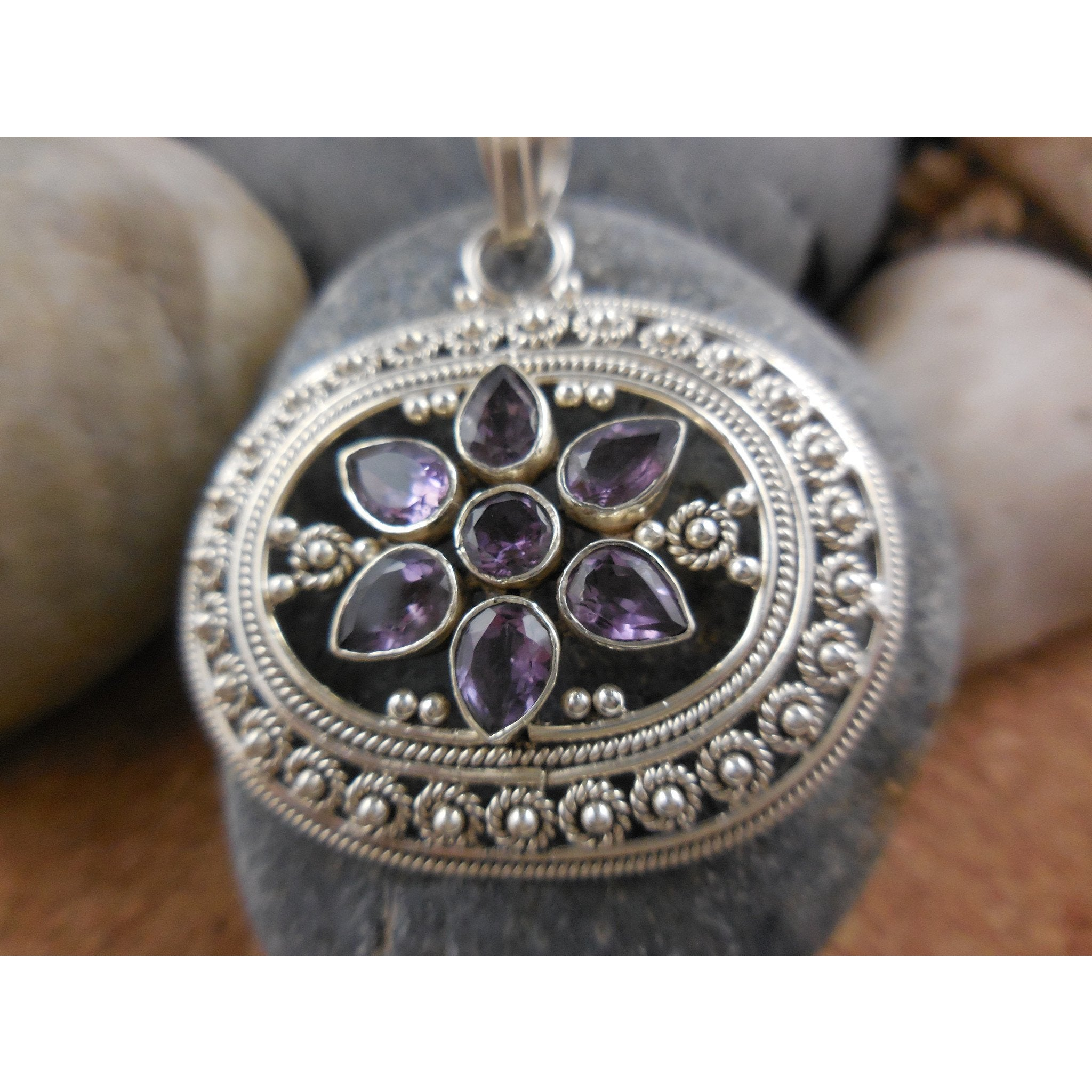 Sterling silver amethyst necklace sage inspirations artisan jewelry sterling silver amethyst necklace aloadofball Gallery