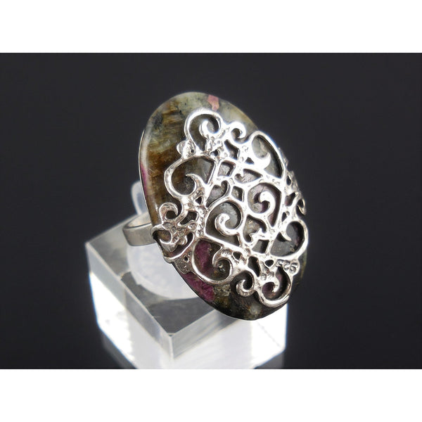 Eudalyte Sterling Silver Ring - Size 6.5